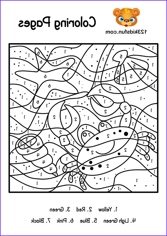 Coloring by Numbers Best Of Stock Color by Number Summer Coloring Pages for Kids Printable