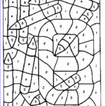 Coloring By Numbers Cool Image Color By Number Coloring Pages