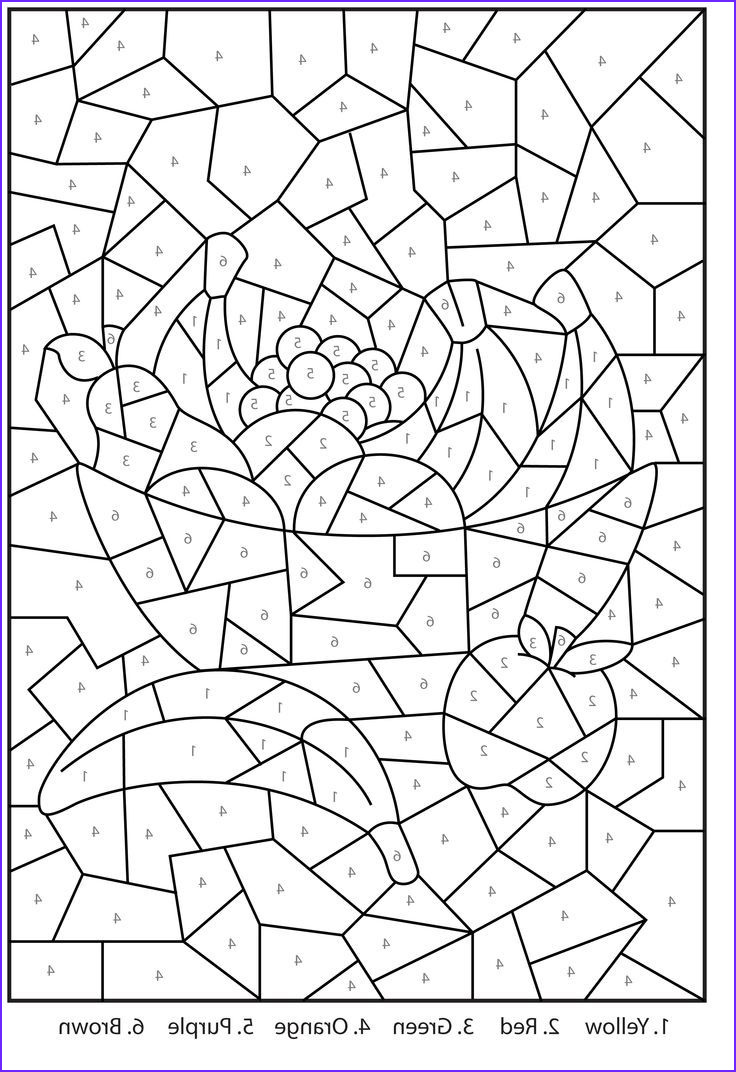 Coloring by Numbers New Gallery Difficult Color by Number Printables Coloring Home