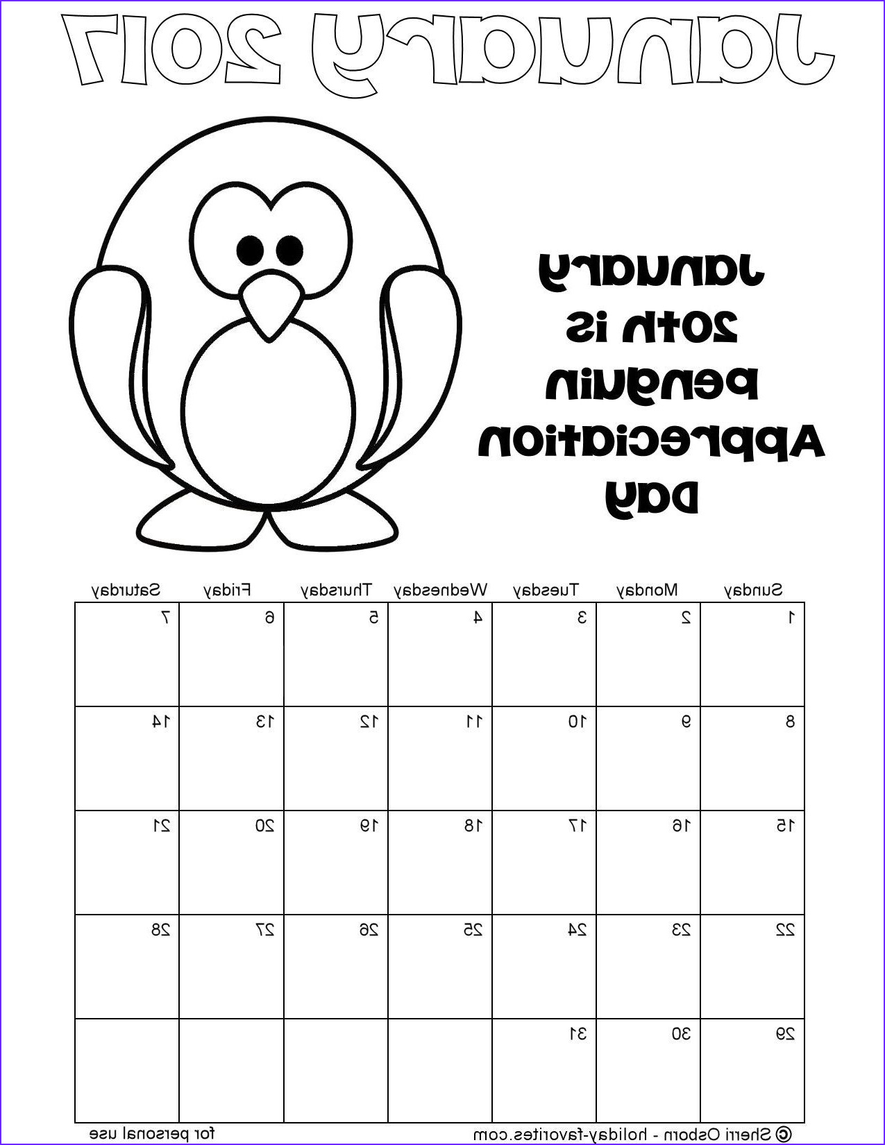 Coloring Calendar 2017 Awesome Gallery January 2017 Printable Calendar Pages