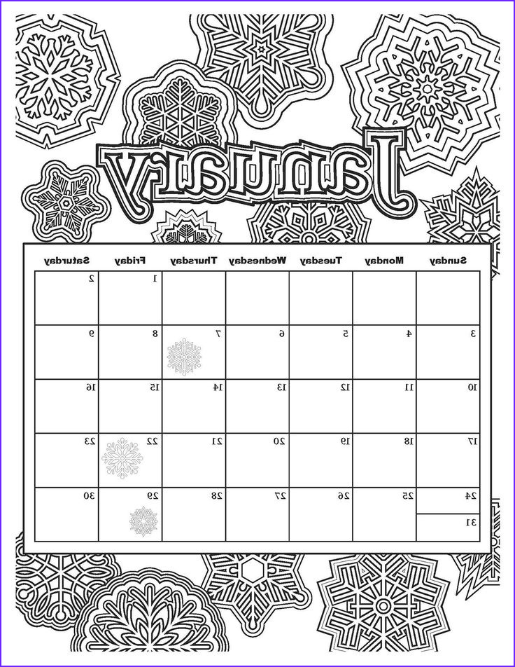 month coloring