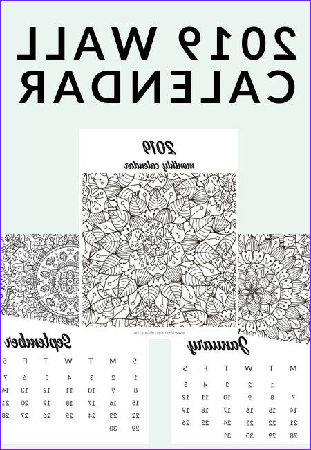 Coloring Calendar Awesome Photos Free Printable 2019 Adult Coloring Calendar the Crazy
