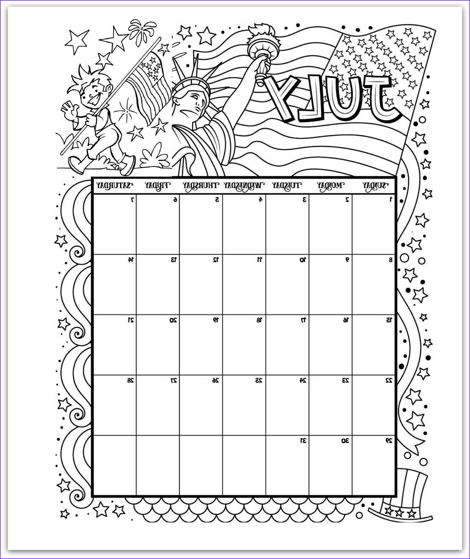 Coloring Calendar Best Of Gallery 2019 Coloring Pages Printable Monthly Calendars for Kids