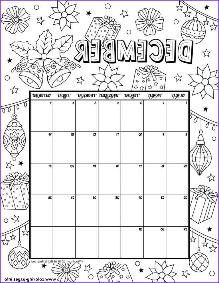 Coloring Calendar Inspirational Collection December Calendar 2019 Christmas Coloring Pages Printable