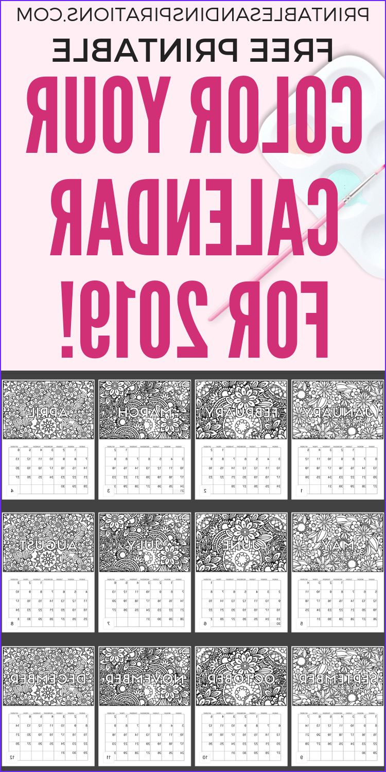 Coloring Calendar Inspirational Photos Free Calendar Coloring Pages for 2019 Printables and