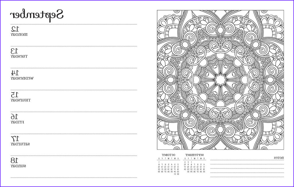 Coloring Calendar Unique Photos 11 Great 2016 Calendars for Coloring Fans Adult Coloring 101