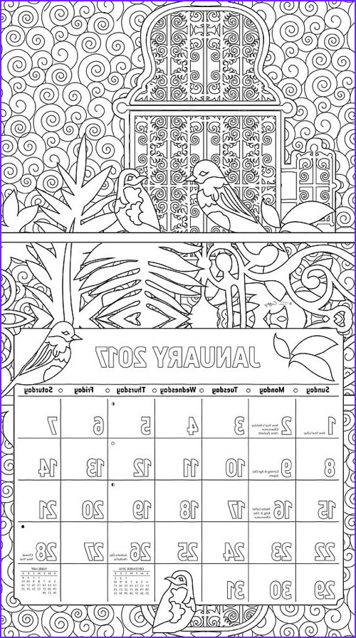 Coloring Calendar Unique Photos the Best Adult Coloring Calendars for 2017 Cleverpedia
