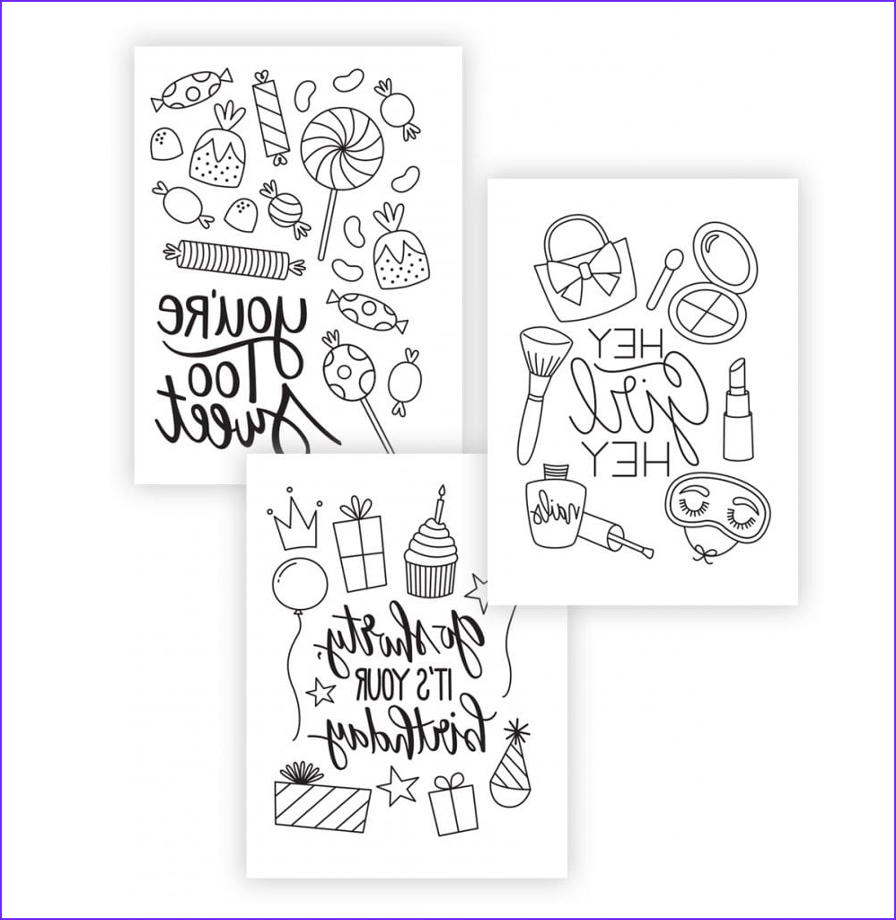 printable coloring cards