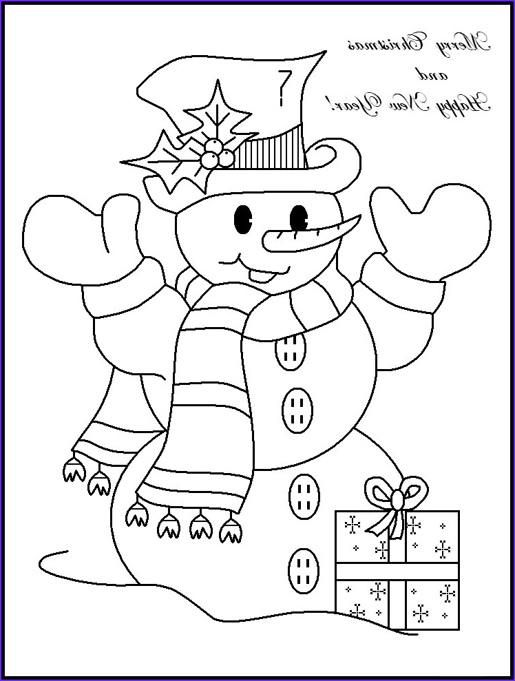 Coloring Christmas Cards Elegant Photos Coloring Pages Snowman to and Print for Free