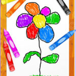Coloring Clip Art Inspirational Images Kids Colouring Crayons Flower Clip Art – Prawny Clipart