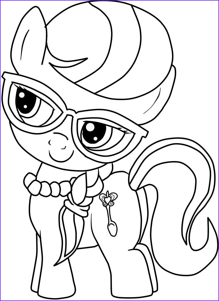 Coloring Coloring Beautiful Photos Ponies From Ponyville Coloring Pages Free Printable