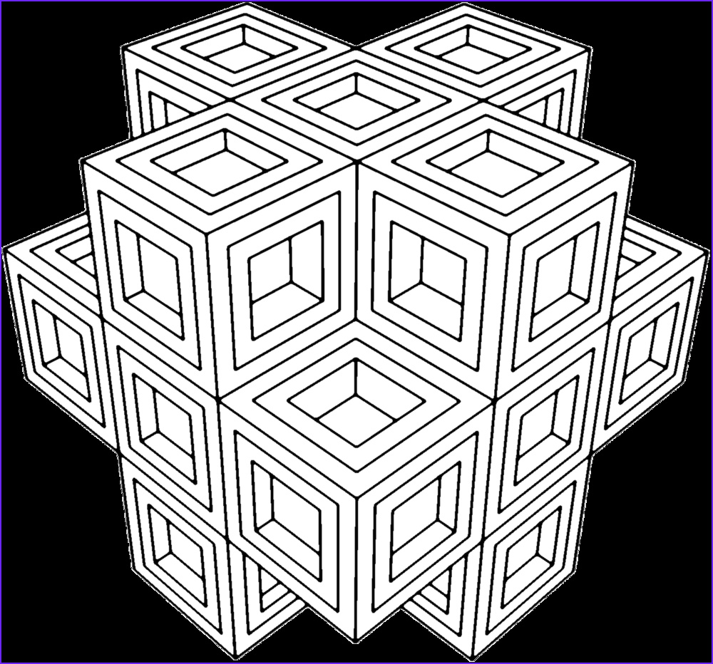 Coloring Designs for Adults Best Of Images Geometric Coloring Pages for Adults Az Coloring Pages