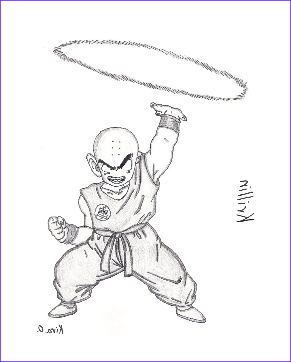 free krillin dragon ball z coloring to