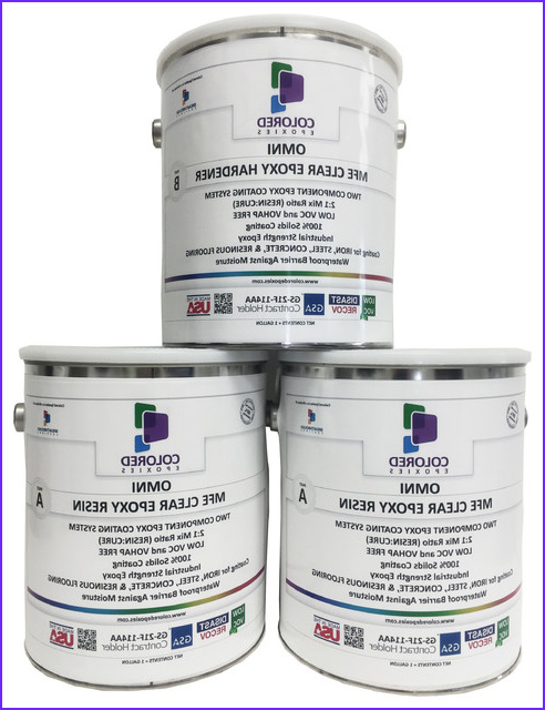 Clear Epoxy Resin Coating for Wood Tabletop Concrete Garage Floors 3 Gallon contemporary paint