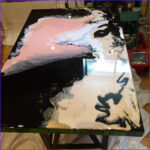 Coloring Epoxy Resin With Acrylic Paint Cool Images These Resin Pour Paintings Would Make Great Table Tops