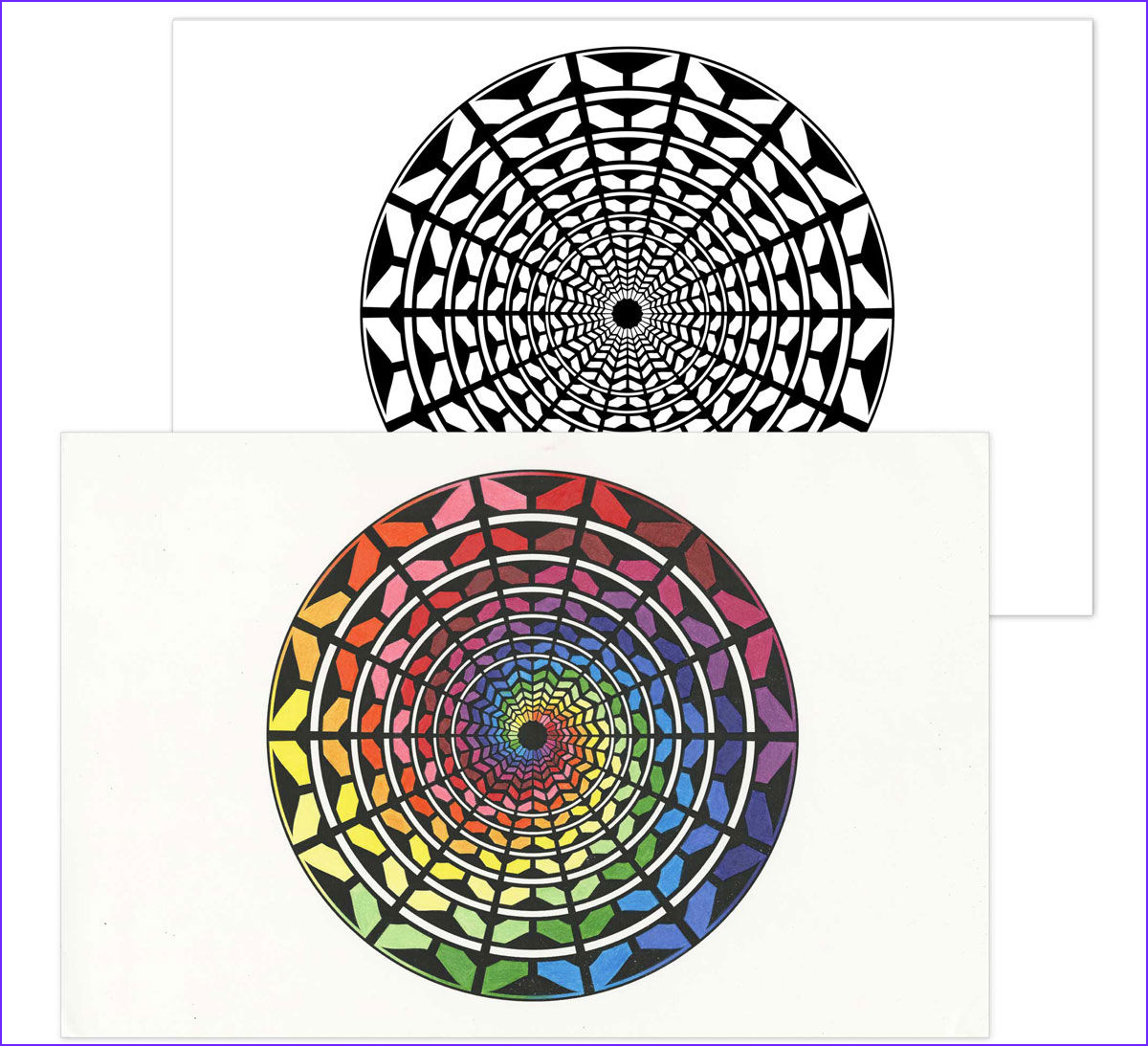 color escapes adult coloring kit kaleidoscopes