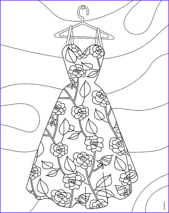 fashion coloring pages for adults