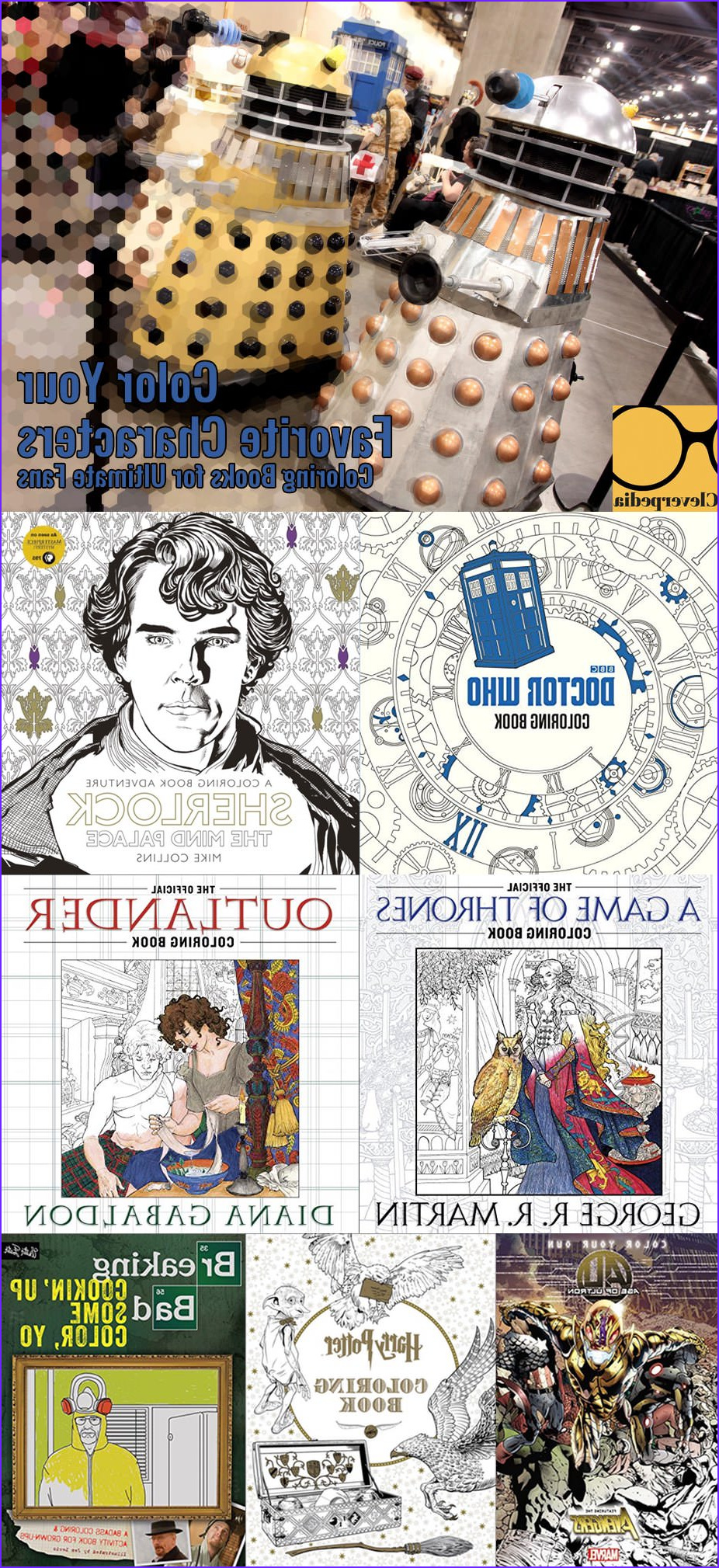 color your favorite characters coloring books for ultimate fans