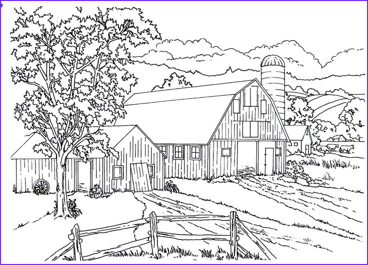 living in the country coloring book pages