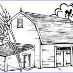 Coloring Farms Beautiful Photos Barn Coloring Pages