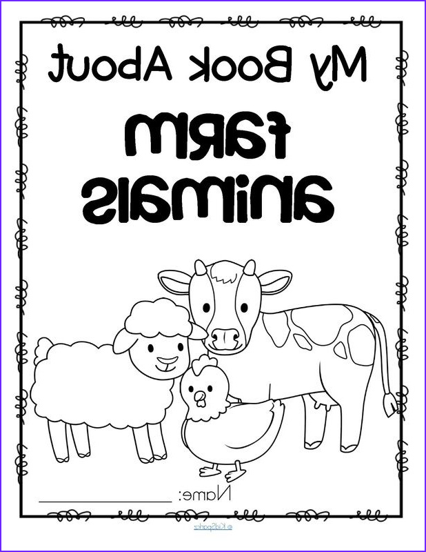 Coloring Farms Cool Image Set Of 11 Activity Printables About Farm Animals for