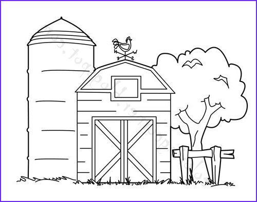 Coloring Farms Cool Stock Barn Coloring Pages