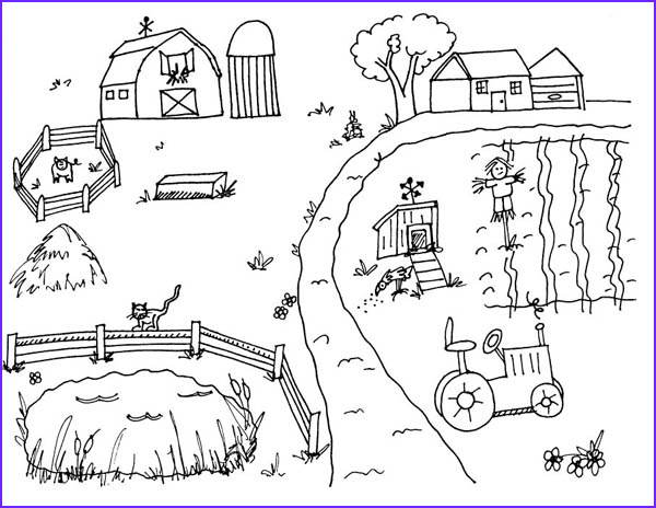 Coloring Farms Inspirational Photography Farm whole Yard Coloring Page Coloring Sky