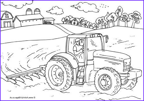 Coloring Farms Inspirational Photography Farmer and Tractor Colouring Page