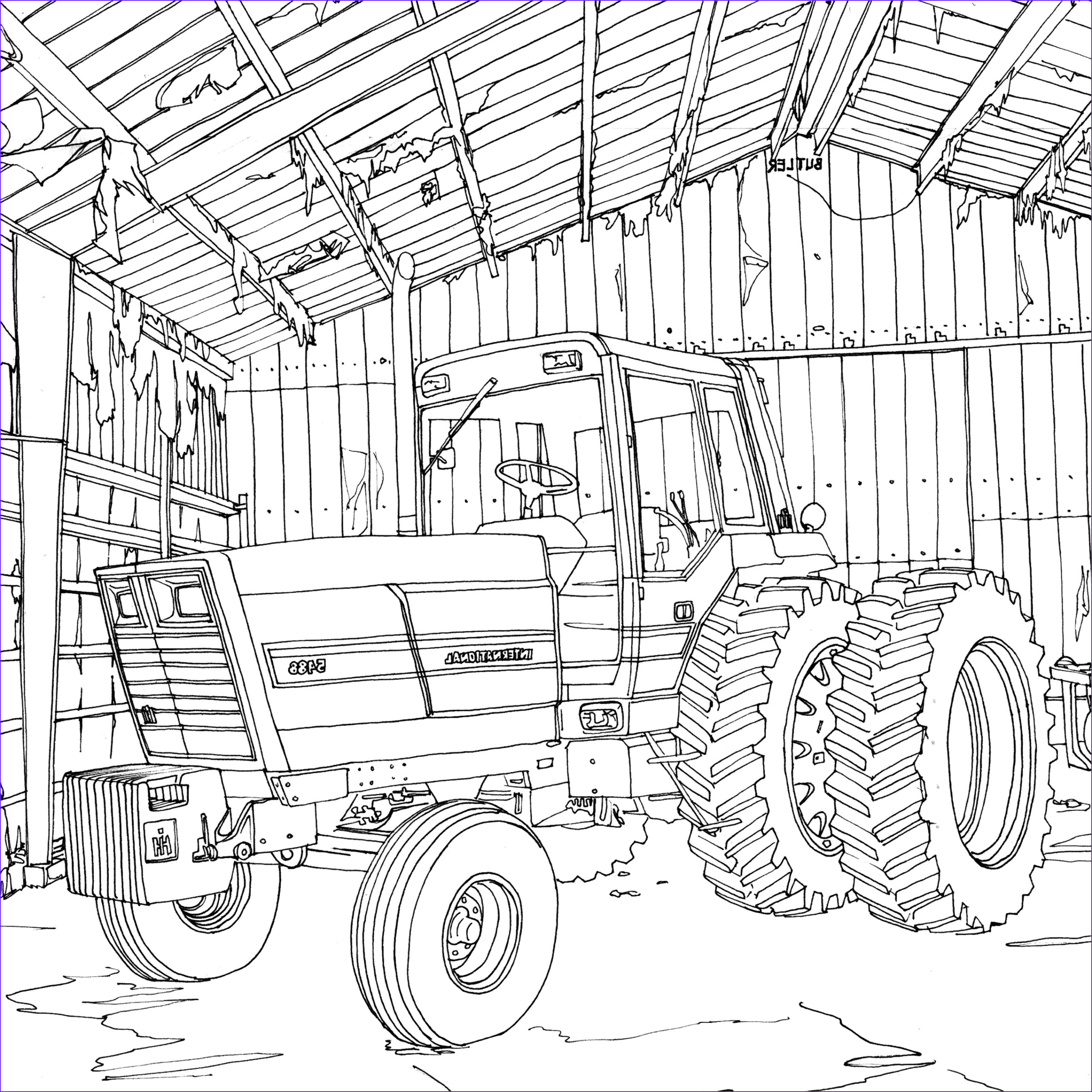 Coloring Farms Luxury Image Art Of the Tractor Coloring Book