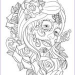Coloring For Adults Elegant Photos Free Printable Day Of The Dead Coloring Pages Best