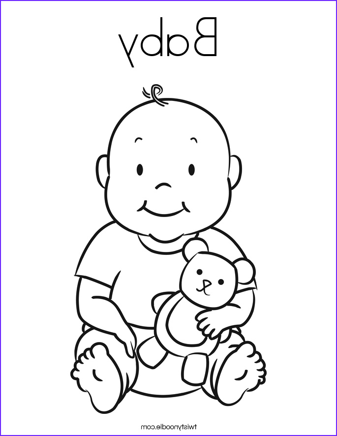 baby 5 coloring page