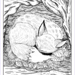 Coloring For Grown Ups Beautiful Gallery Free Coloring Pages For Grown Ups Fox Sleeping Gianfreda