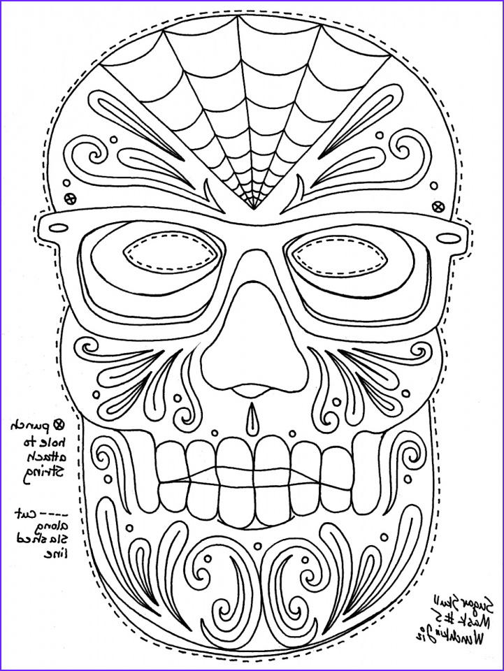 sugar skull coloring pages free printable for grown ups