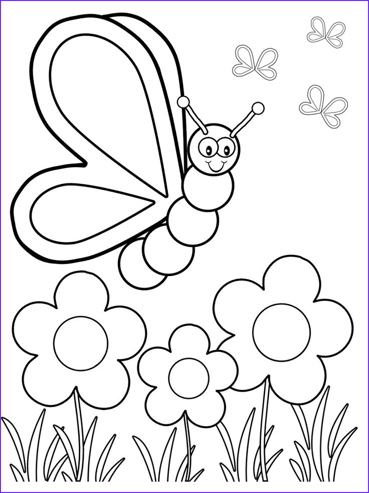Coloring for toddlers Awesome Images top 50 Free Printable butterfly Coloring Pages Line