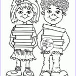 Coloring For Toddlers Cool Stock Children With School Books Coloring Page For Kids Back To