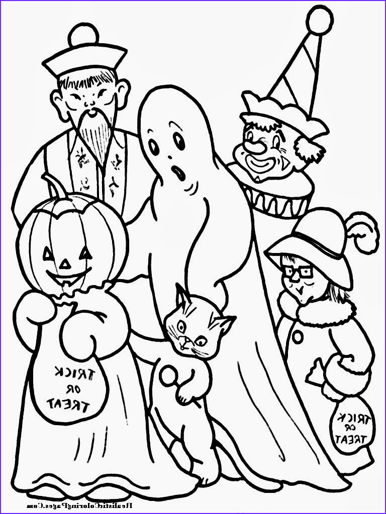 happy halloween printable coloring pages