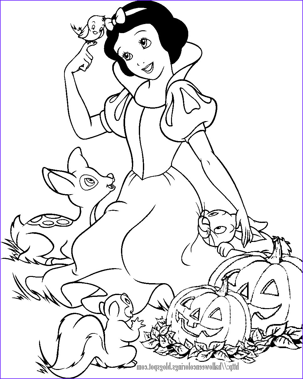 snow white halloween coloring page