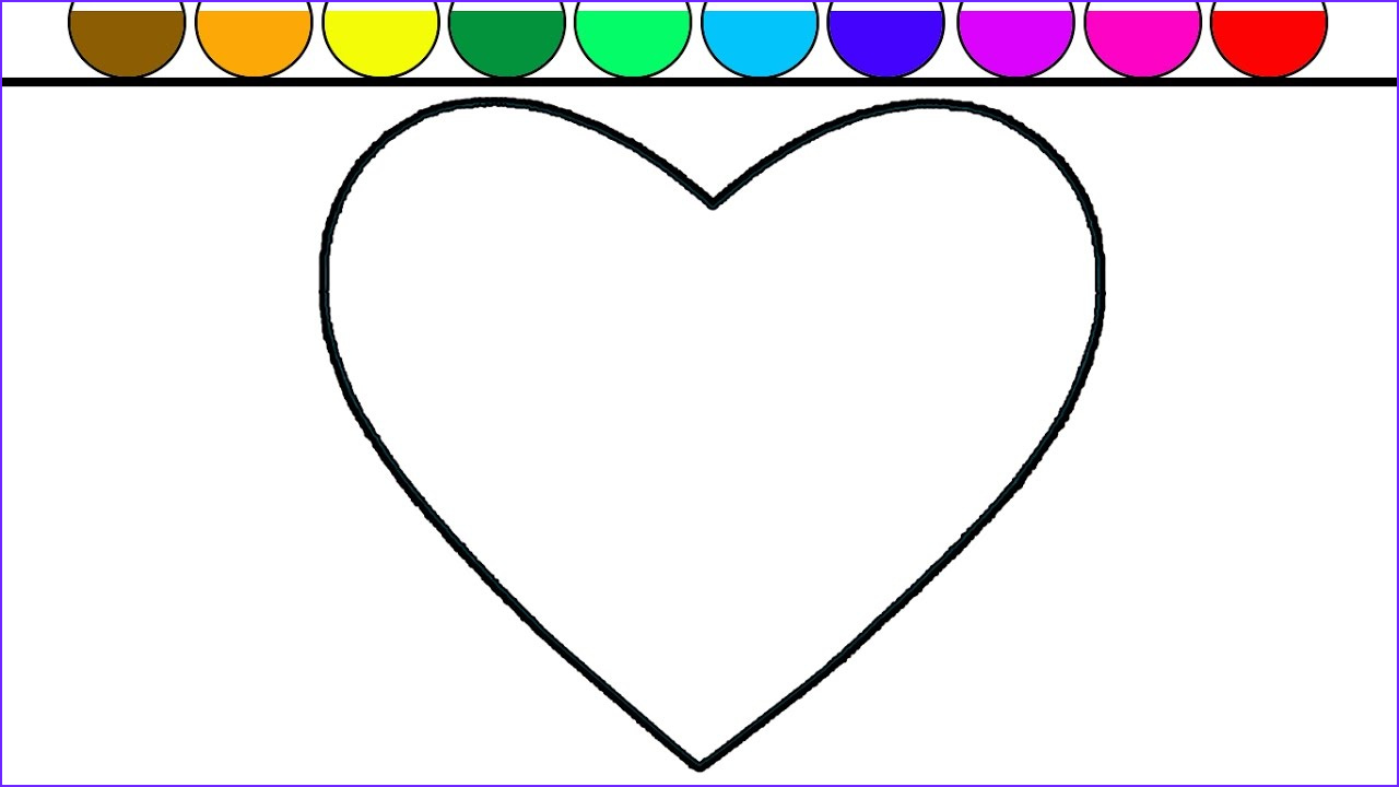 Coloring Hearts Beautiful Photos Learn Colors for Kids and Color Heart Shape Coloring Page