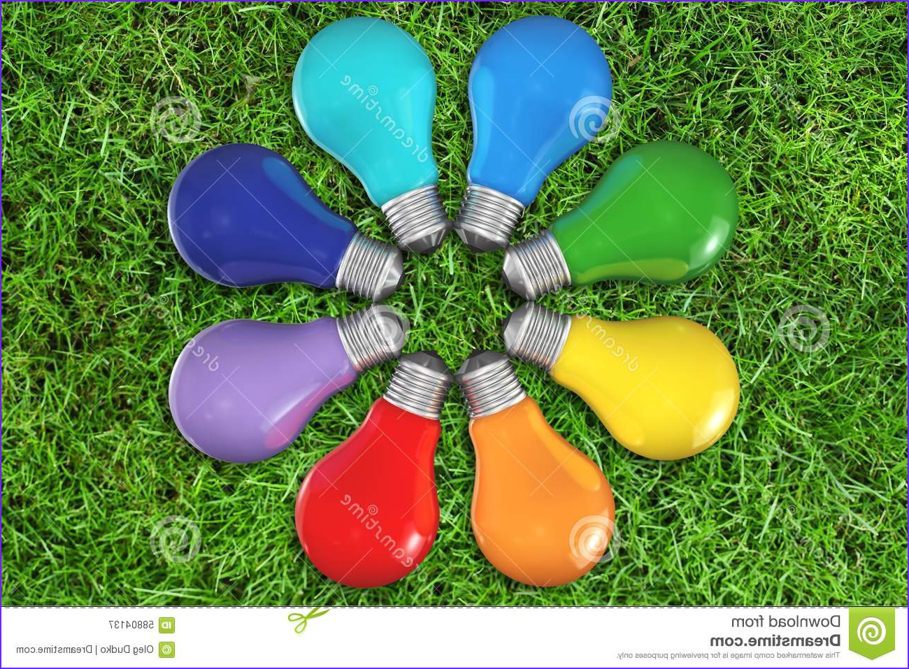 stock photo color wheel light bulb multi colored inspiration concepts red ideas image