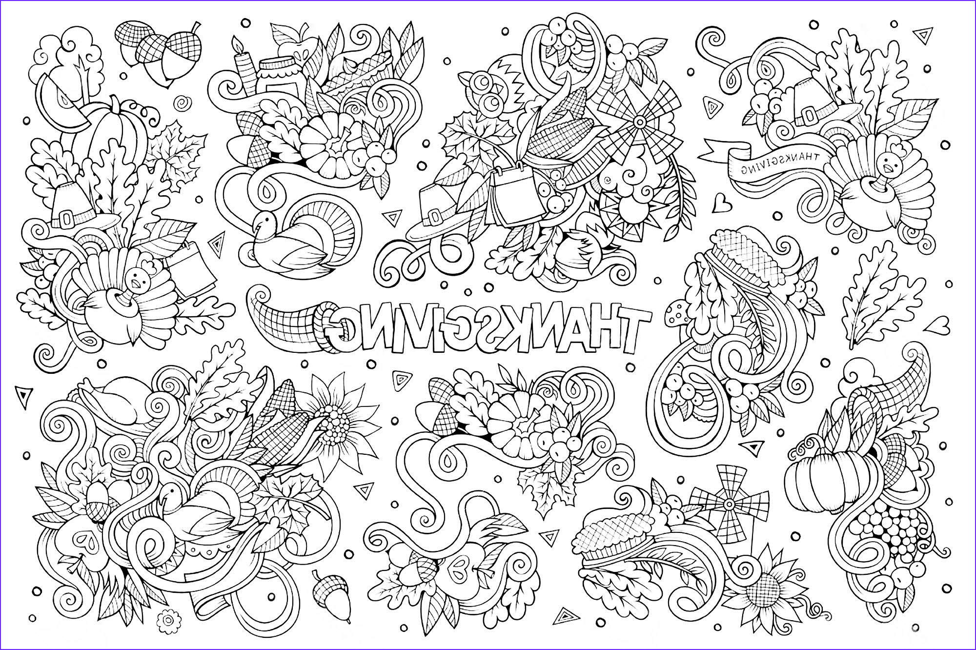 Coloring Images for Adults Best Of Collection Free Thanksgiving Coloring Pages for Adults & Kids