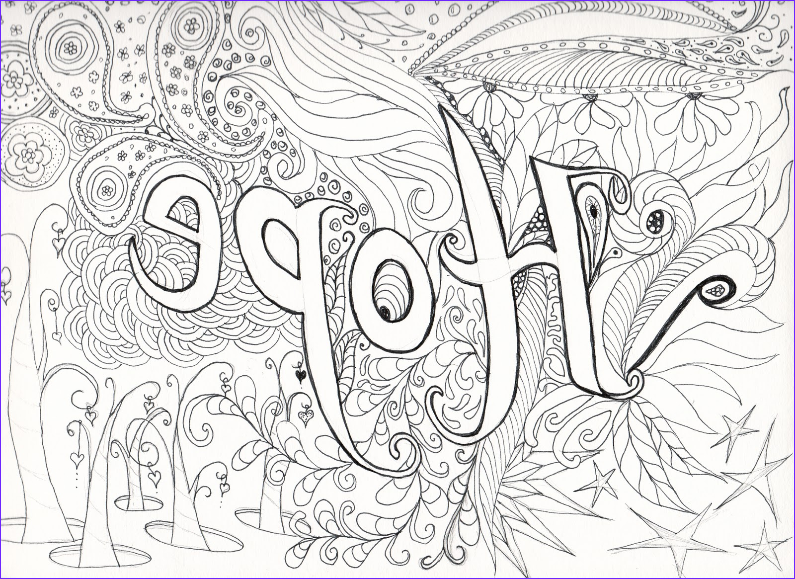 hard coloring pages adults