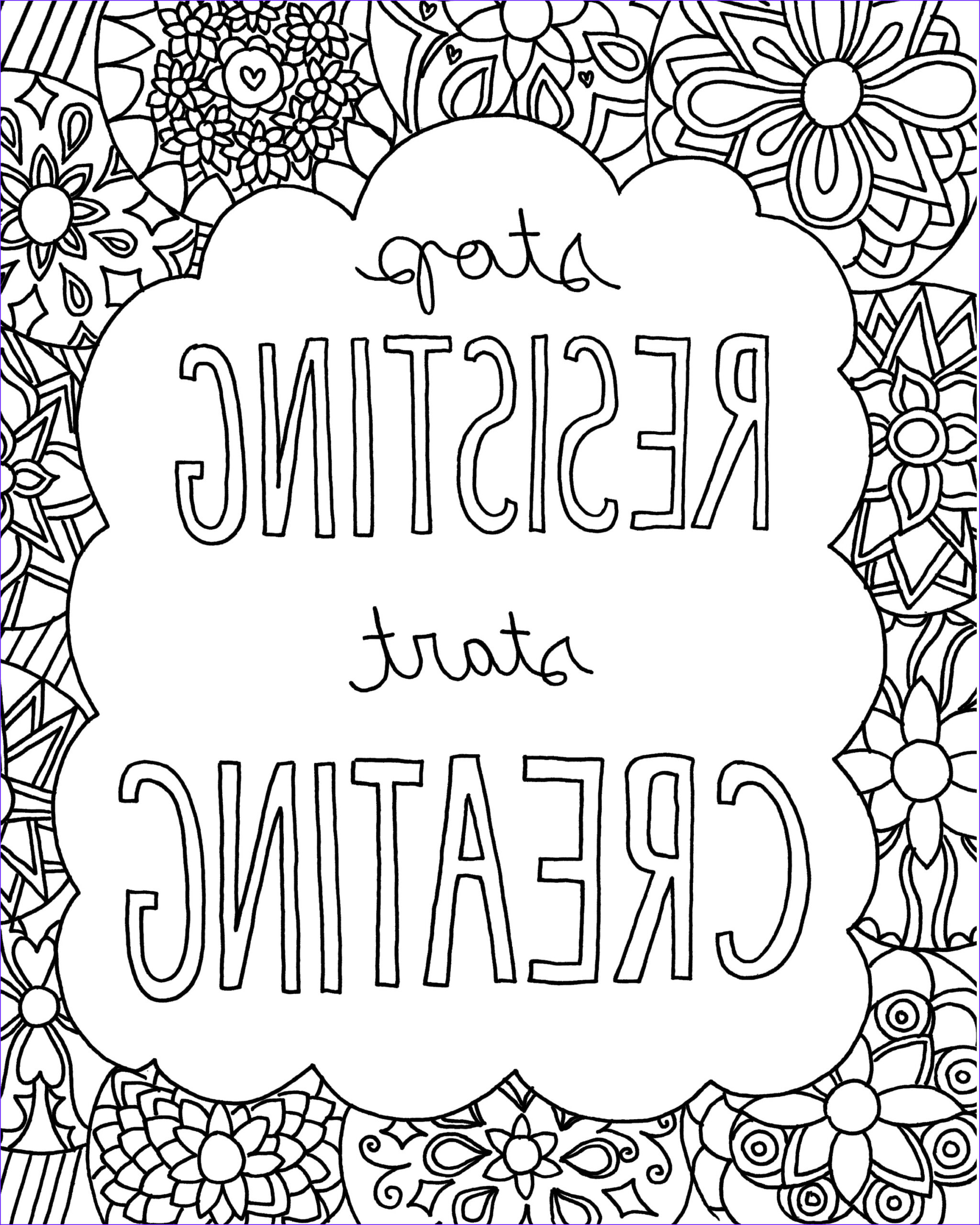 Coloring Images for Adults Elegant Gallery Free Printable Quote Coloring Pages for Grown Ups