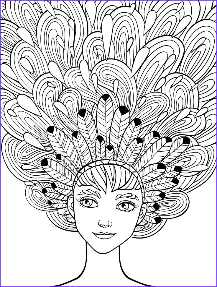 Coloring Images for Adults Inspirational Gallery 10 Crazy Hair Adult Coloring Pages