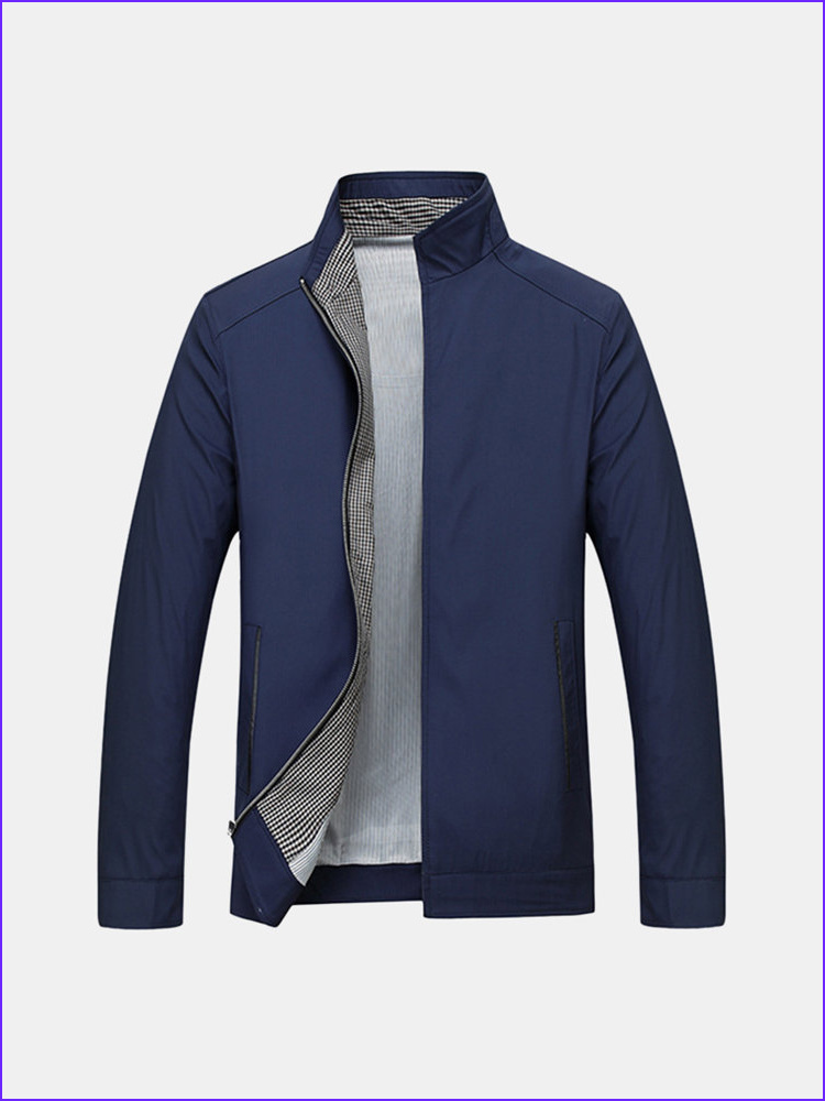 Coloring Jacket Unique Gallery Business Casual Thin Stand Collar solid Color Jackets for