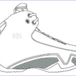 Coloring Jordan Shoes Awesome Collection The Best Free Jordan Drawing Images Download From 1221