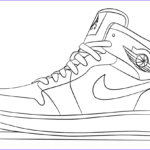 Coloring Jordan Shoes Awesome Photography Jordan Shoes Coloring Pages Coloring Home