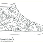 Coloring Jordan Shoes Best Of Photos Converse Shoe Coloring Page At Getcolorings