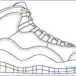 Coloring Jordan Shoes Cool Photos Nike Shoes Coloring Pages At Getcolorings