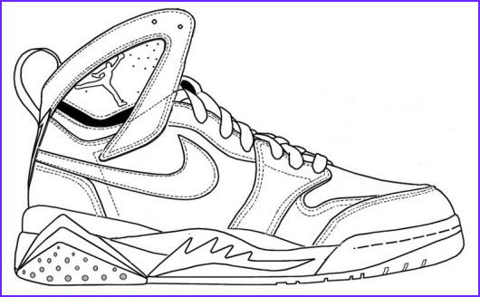 nike shoes coloring sketch drawing pages