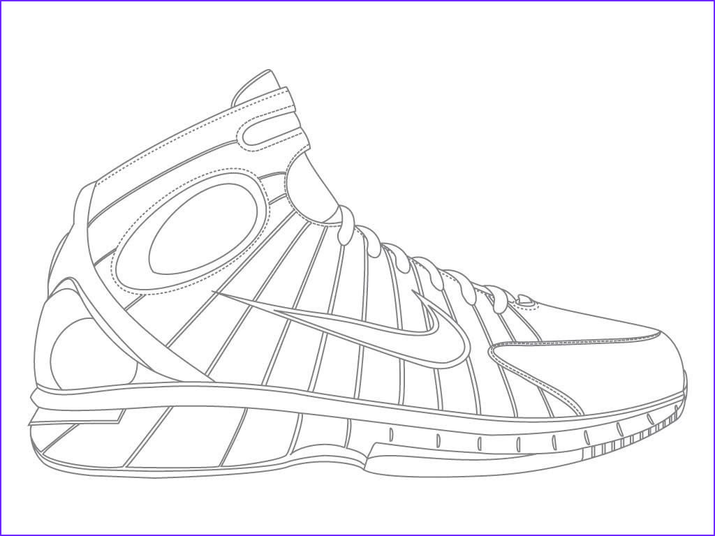 nike basketball coloring pages